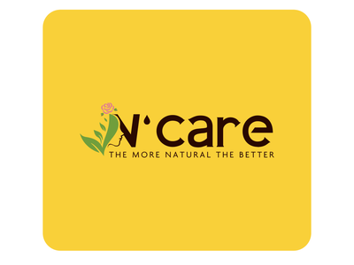 N'CARE print vector brand identity branding design creation logotype logo design yellow natural package package design logos