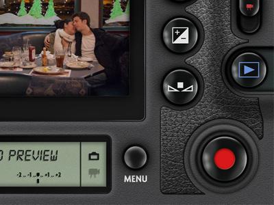 iDSLR GUI iphone camera app ui interface buttons dslr ios