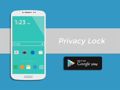 PrivacyLock vector explainer video android samsung galaxy s4 google play motion graphics