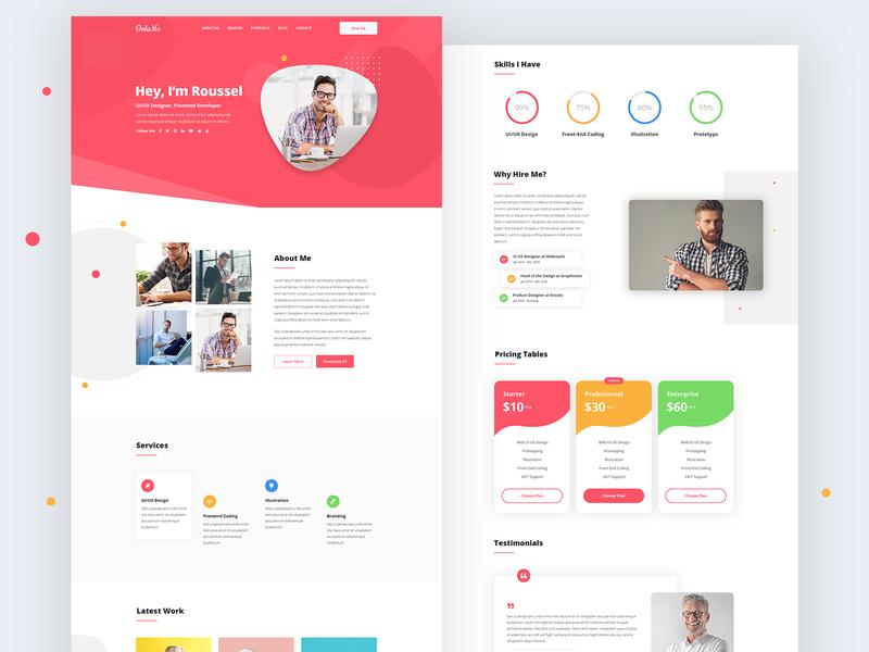 Personal Portfolio Template portfolio design portfolio cv personal