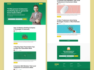 Personal Blog Homepage Design personal branding ux design ui design blog design blog personal blog