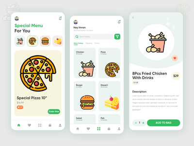 Food Delivery App UI adobe xd ui design app ui food delivery app ui