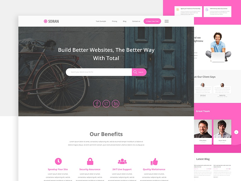 Corporate Website Design Freebies business professional clean sketchapp websitedesign webdesign freebies sketch ux ui website corporate