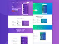 Free Modern App Landing Page Design