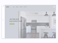 Furniture Website Header