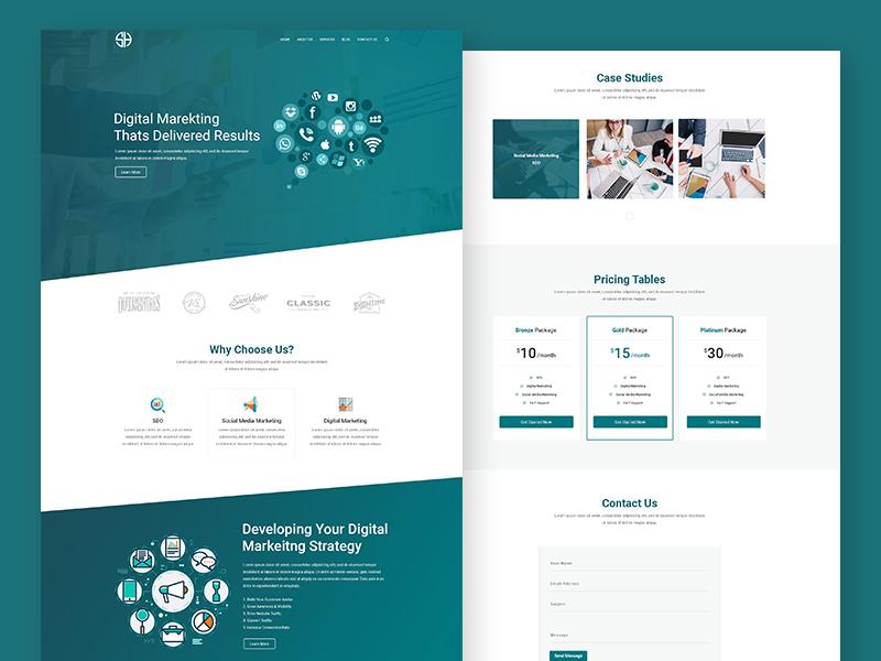 Digital Marketing Agency Website Design by Imran Hossain on Dribbble
