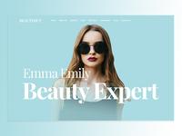 Beauty Slaon Website Header Design Concept