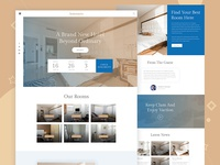 Hotel Booking Website Free PSD