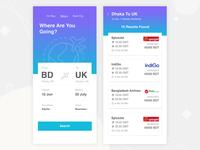 Flight App UI Design