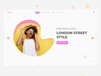 Fashion Ecommerce Website Header Design