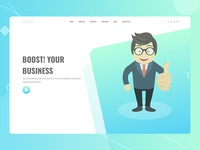 Boost Your Business, Business Website Header