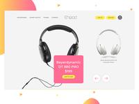 Ecommerce Headphone Website Header