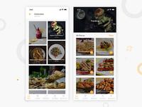 Food Restaurant Find App UI