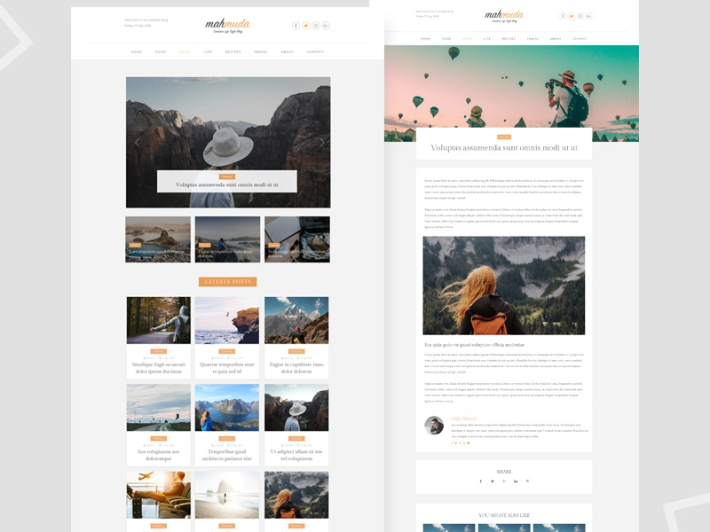 Free Creative Lifestyle Blog Sketch Template By Imran Hossain