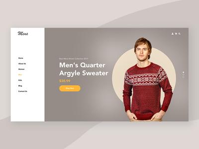 E-commerce Website Header Design