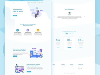SHEPA – Free Marketing Landing Page PSD