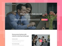 Marketika – Free sketch landing page template
