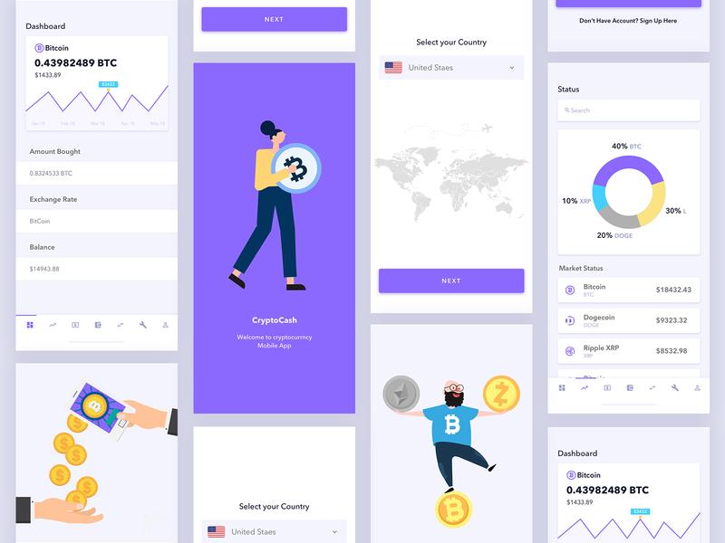Crypto Currency App UI ui-ux ux design ui design app design app ui crypto trading crypto currency crypto wallet crypto