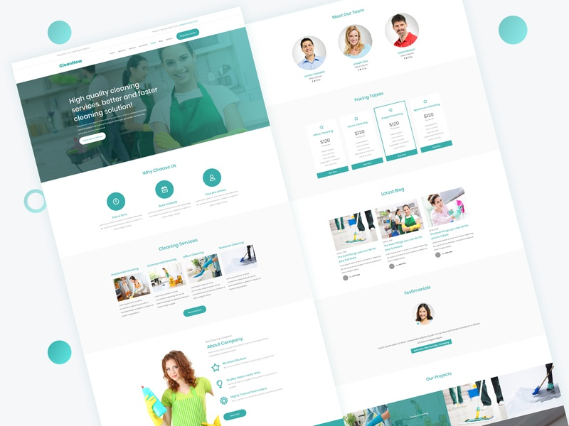 Cleaning Services Website Design cleaning services cleaning web ui deisgn ui ux ux design ui design website design web design cleaning service
