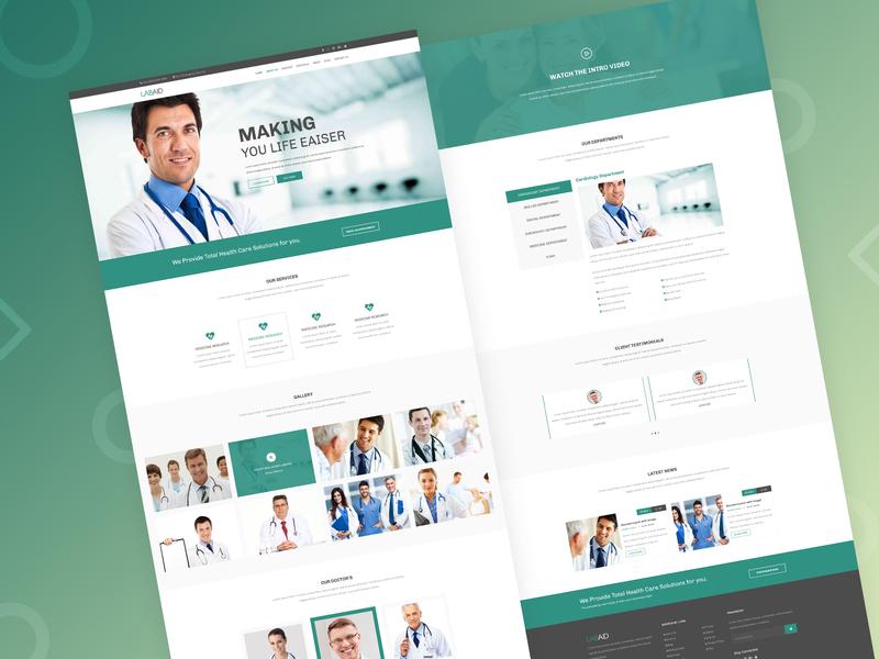 Medical Website Design website web design web ui ui ux ux design ui design doctor website doctor medical medical website design website design