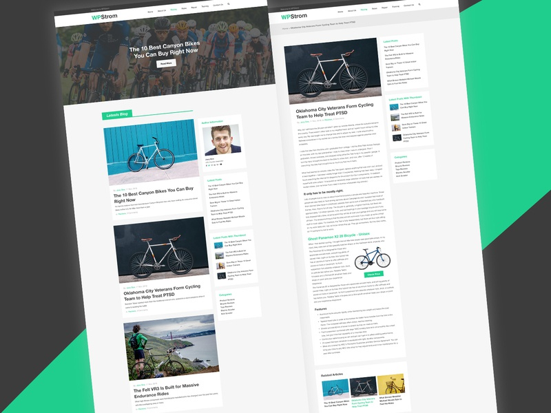 WPstrom - Free Modern Blog PSD Template free psd freebie psd freebie freebies psd blog template blog blog psd psd template