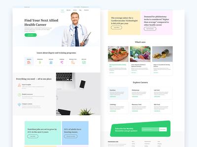 Health Career Website Design