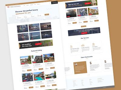 Real Estate Website Redesign property listing re-brand re design ux design ui design web design real estate agency real estate