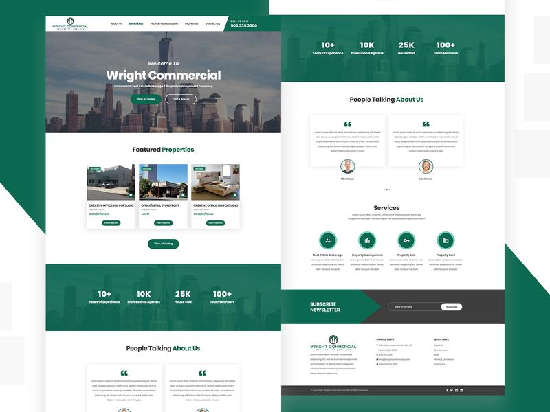 Real Estate Website Redesign ux design ui design website design real esate listing real estate