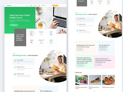 Healthcare Website Redesign user interface design ux design ui design web ui healthcare webdesign