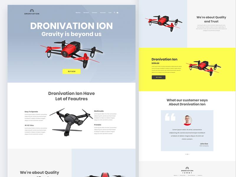 Drone Website Design user interface design ux design ui design web ui web design drone website