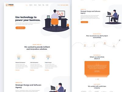 Software Company Landing Page Design landing page concept ui ux web ux web ui web design software company landing page