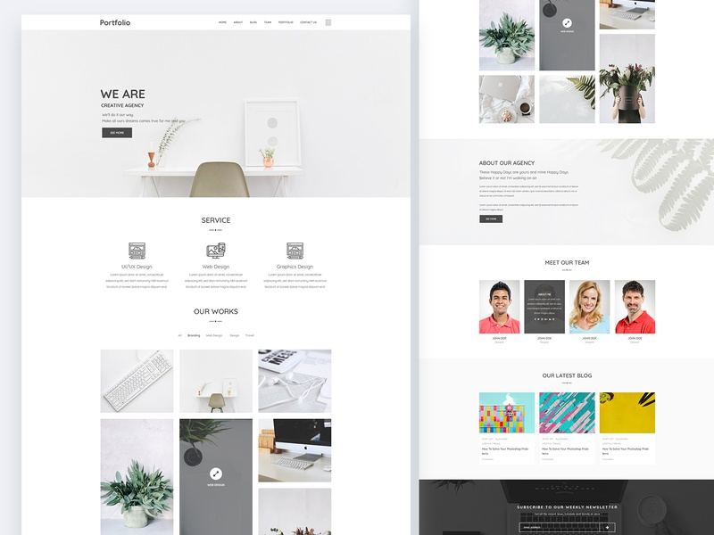 Creative Minimal Portfolio Website portfolio agency ui ux ux design ui design web design creative design minimal design