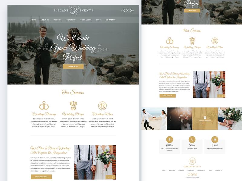 Wedding Website Design website design ux ui ui ux ux design ui design web ui events weeding website