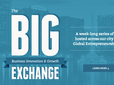 The BIG Exchange [ Landing Page ] landing page orlando conference webdesign flat web design