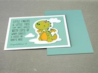 Baby Boy Postcard Design