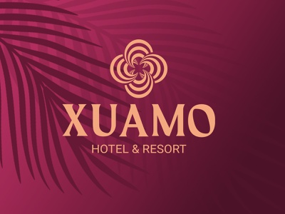 Xuamo  luxury hotel and resort logo branding   minimalist logo illustration responsive resort logo design hotel logo design redesign logos luxury hotel logo design resort project modern logo 2020 luxury hotel logo
