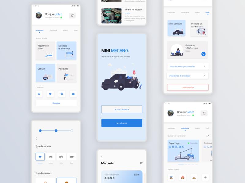 MINI MECANO - Mobile web uxdesign userinterface ux ui uidesign shot productpage dribbble design