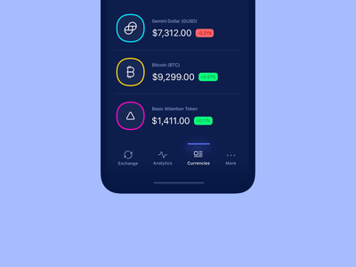 Bottom Navigation Microinteraction tapbar bottom nav navigation gif animation wallet cryptocurrency ethereum bitcoin crypto dark microinteraction application mobile clean app interface design ux ui