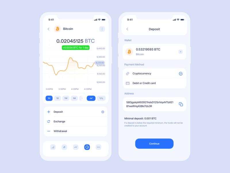 Cryptocurrency iOS app | Deposit