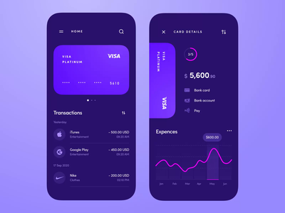 Banking app, NFC payment clean account transaction bankingapp nfc payment pay money finance cards banking ios application mobile app interface design ux ui
