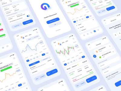 Cryptocurrency trading application blockchain ios transaction deposit wallet finance money ethereum bitcoin cryptocurrency crypto wallet crypto application clean mobile app interface design ux ui