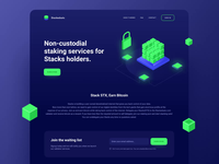 Landing page block chain cryptocurrency crypto website web design animation green dark blockchain landing page landing web interface design ux ui