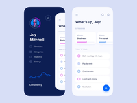 ToDo App UI manager planning navigation motion animation projects task manager tasks task list todolist todo application clean mobile app interface design ux ui