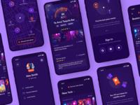 Nightlife venues searching places drinks map onboarding profile nightlife nightclub bar ios application clean mobile app interface design ux ui