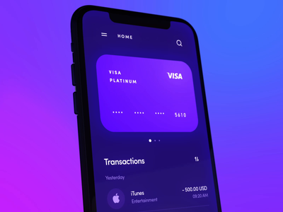 Banking app finance motion animation 3d ntc pay payment wallet fintech money banking mobile interface app design ux ui