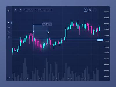 Trade Platform bitcoin coin panel colors trading platform platform cryptocurrency crypto chart exchange gui web dark application trading trade dashboad ux ui