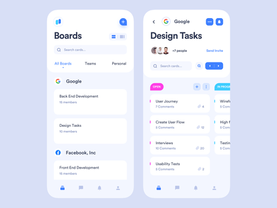 Task Management ios user management project project management todoist todo clean material blue dashboard managment task manager tasks boards mobile interface app design ux ui