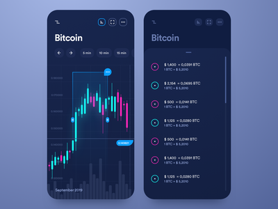 Trading platform mobile iphone graphic panel ios cryptocurrency crypto coin bitcoin trade stats platform trading dark mobile clean interface app design ux ui