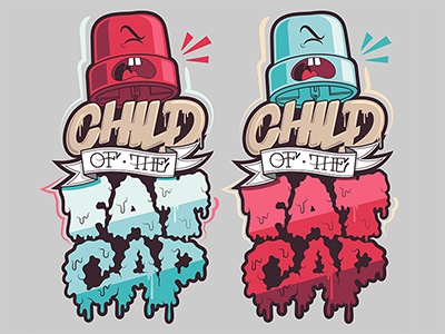 Child of the Fat Cap streetart illustration typography graffiti street hand lettering typeface creative illustrator debut character design hand drawn