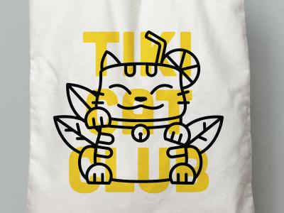 Tiki Cat Club Tote Bag